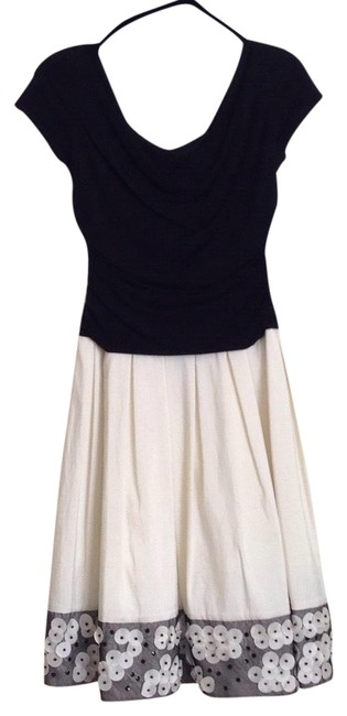 Preload https://item3.tradesy.com/images/sl-fashions-black-and-cream-holidays-party-mid-length-cocktail-dress-size-petite-6-s-22470352-0-1.jpg?width=400&height=650