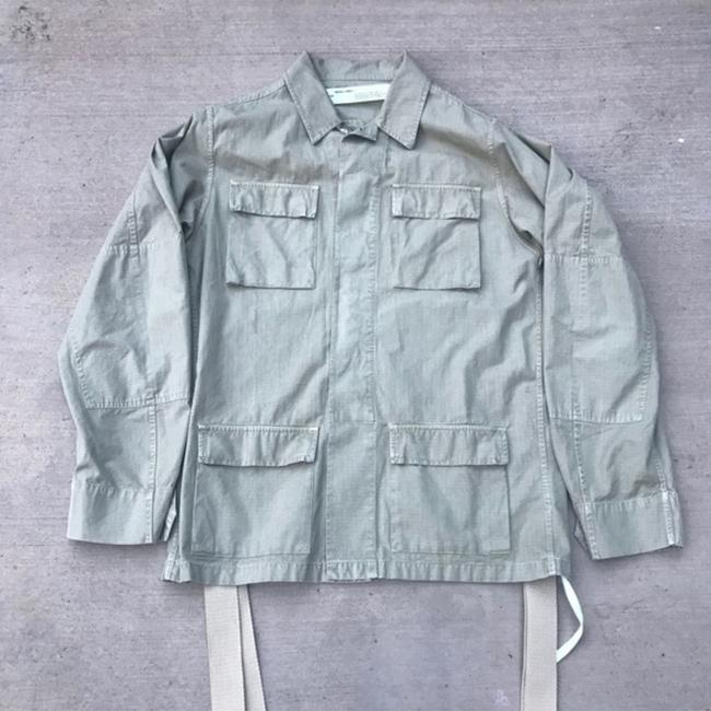 Off-White Off-white Field Applique Men's Light Army Green Jacket