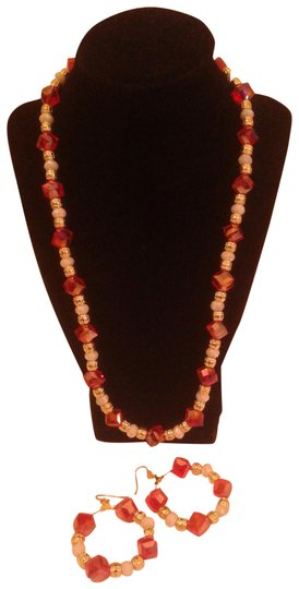 Preload https://img-static.tradesy.com/item/22470461/red-and-white-new-2-pc-23-pierced-earrings-necklace-0-1-540-540.jpg