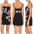 Free People Black and Gold Limited Edition Embroidery Strapless Mini Short Night Out Dress Size 6 (S) Free People Black and Gold Limited Edition Embroidery Strapless Mini Short Night Out Dress Size 6 (S) Image 6
