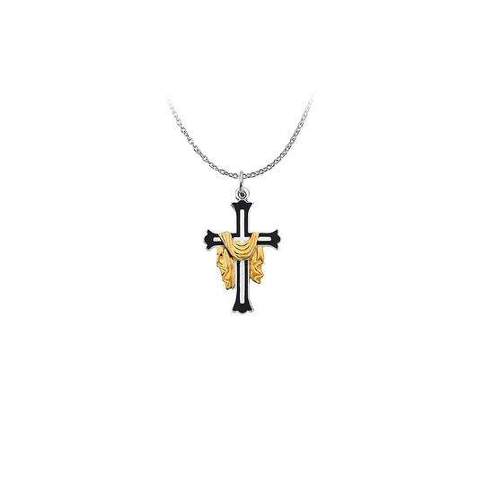 Preload https://img-static.tradesy.com/item/22470475/white-silver-cross-pendant-adorned-with-robe-excellent-craftsmanship-necklace-0-0-540-540.jpg