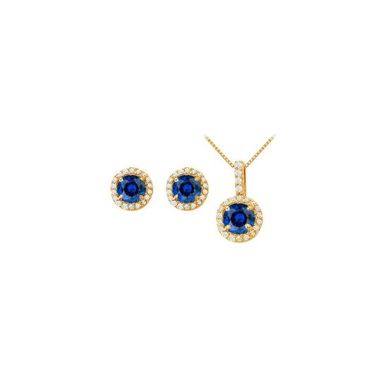 Preload https://img-static.tradesy.com/item/22470491/yellow-white-blue-created-sapphire-with-cz-halo-earrings-and-pendant-necklace-0-0-540-540.jpg