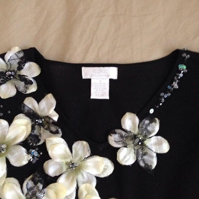 C M C collections Beaded Petals Sweater