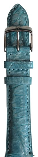 Michele New Michele Authentic Light Blue Alligator Leather 18MM Watch Band
