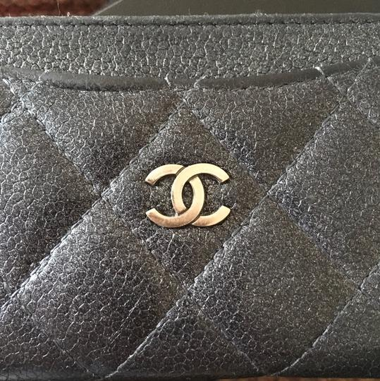 Chanel Chanel Gun Metal Metallic Card Holder
