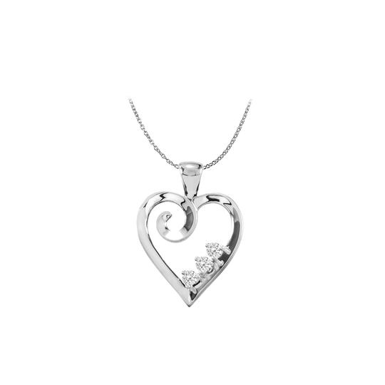 Preload https://item3.tradesy.com/images/white-silver-925-sterling-three-stone-cz-family-heart-pendant-necklace-22470572-0-0.jpg?width=440&height=440