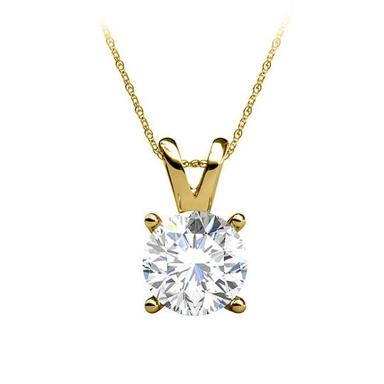 Preload https://item1.tradesy.com/images/yellow-yellow-gold-brilliant-cut-prong-set-diamond-pendant-14k-necklace-22470580-0-0.jpg?width=440&height=440