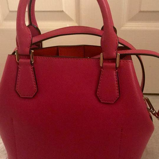MICHAEL Michael Kors Satchel in Raspberry/Mandarin