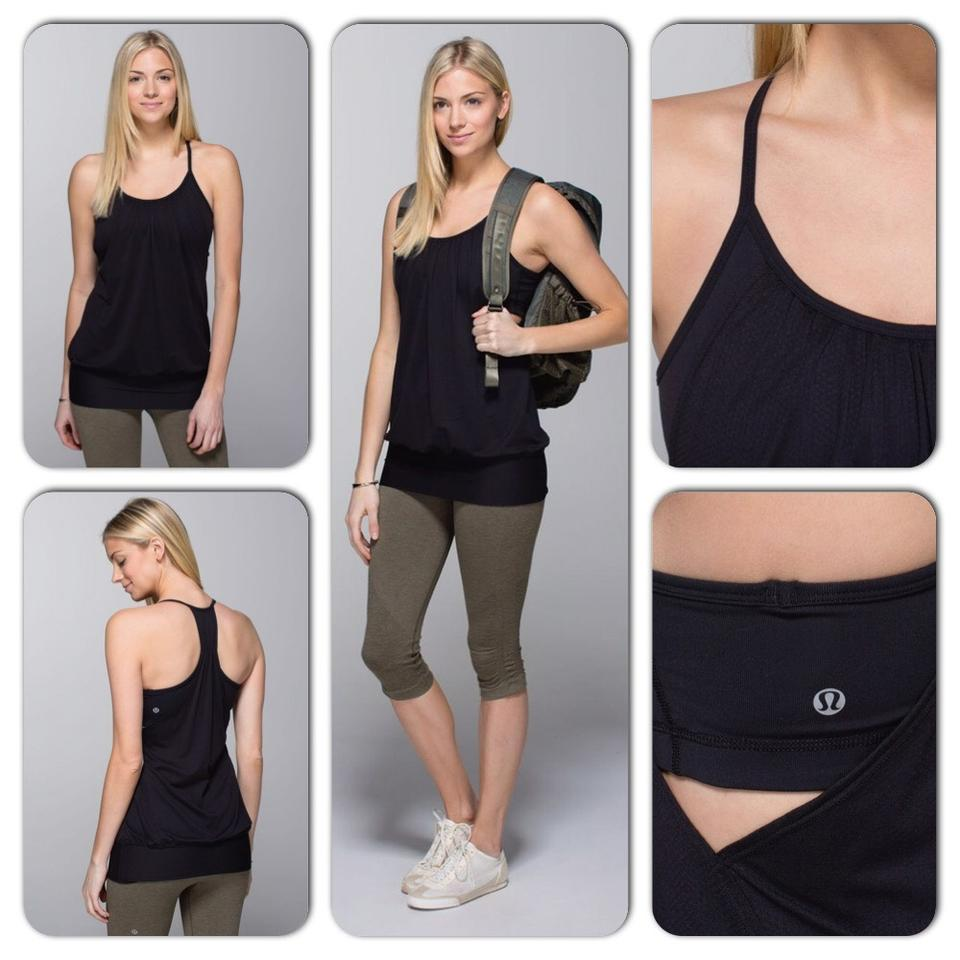 9a5d7ef318a Lululemon Black No Limit Tank Activewear Top Size 6 (S) - Tradesy