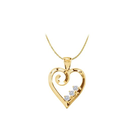 Preload https://img-static.tradesy.com/item/22470660/white-yellow-gold-vermeil-three-stone-cz-heart-pendant-necklace-0-0-540-540.jpg