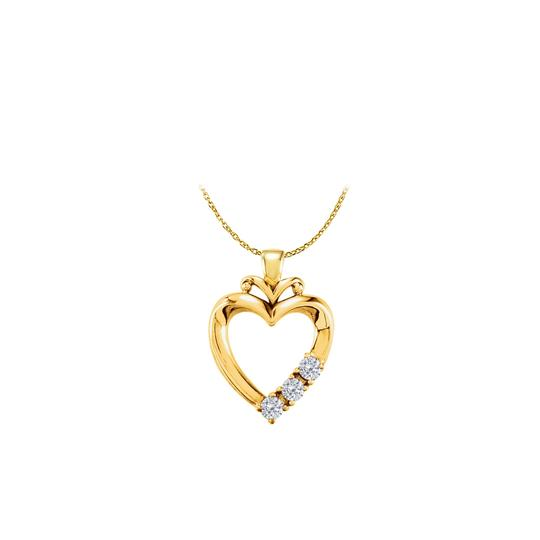 Preload https://img-static.tradesy.com/item/22470663/white-yellow-gold-vermeil-3-stone-cz-family-heart-pendant-necklace-0-0-540-540.jpg