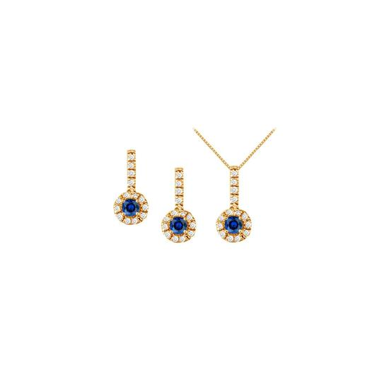 Preload https://img-static.tradesy.com/item/22470697/white-yellow-blue-sapphire-with-cz-halo-earrings-and-pendant-in-18k-gold-vermeil-necklace-0-0-540-540.jpg
