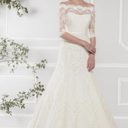 Preload https://img-static.tradesy.com/item/22470721/ivory-alencon-lace-over-satin-11418-traditional-wedding-dress-size-18-xl-plus-0x-0-0-540-540.jpg