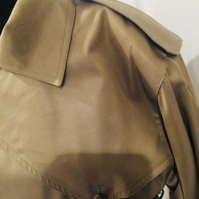 Dior Long Lined Wool Cotton Flannel Trench Coat