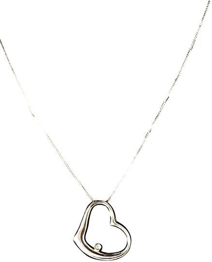 Preload https://item4.tradesy.com/images/18k-solid-white-gold-diamond-floating-heart-16-inch-chain-necklace-22470768-0-3.jpg?width=440&height=440