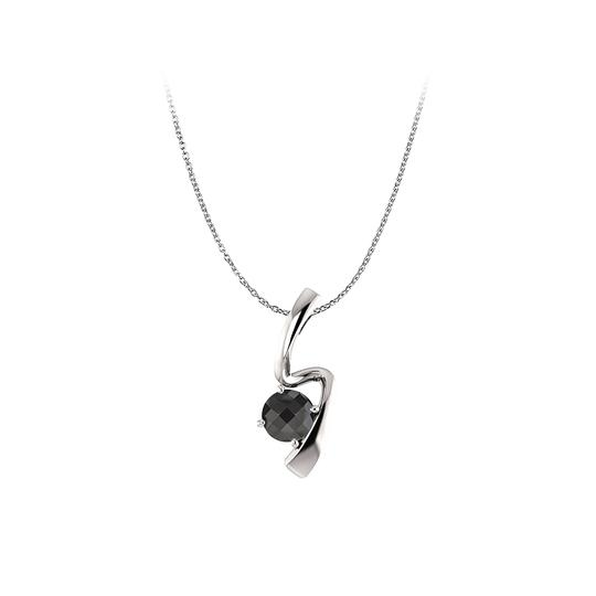 Preload https://img-static.tradesy.com/item/22470792/black-silver-round-onyx-freeform-pendant-925-sterling-necklace-0-0-540-540.jpg