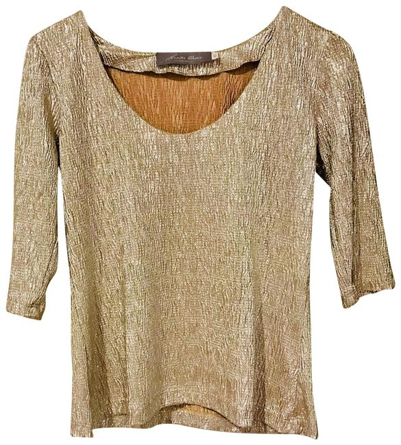 Preload https://item2.tradesy.com/images/silver-lame-blouse-size-2-xs-22470816-0-1.jpg?width=400&height=650