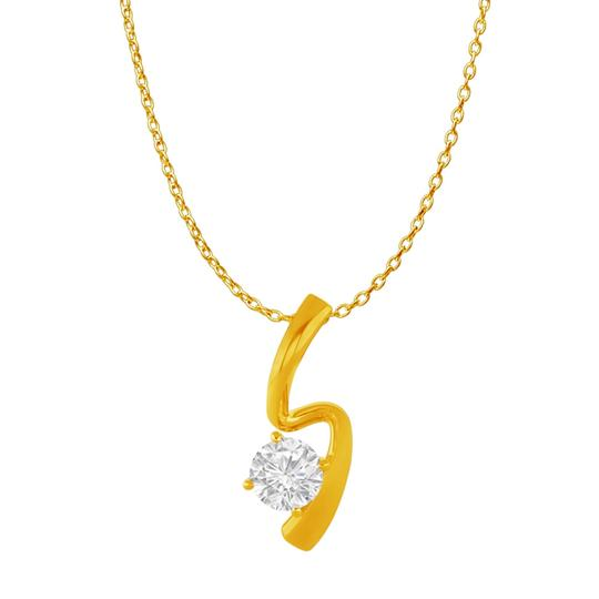 Preload https://item1.tradesy.com/images/white-yellow-cubic-zirconia-freeform-pendant-gold-vermeil-necklace-22470820-0-0.jpg?width=440&height=440