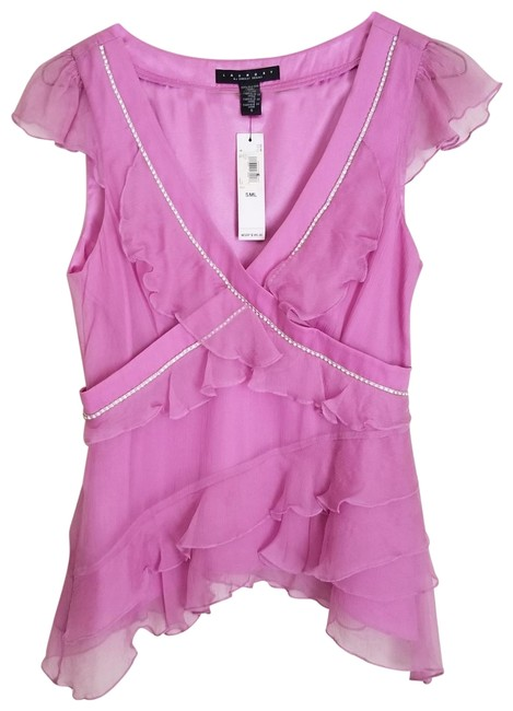 Preload https://item2.tradesy.com/images/laundry-by-shelli-segal-pink-night-out-top-size-4-s-22470831-0-3.jpg?width=400&height=650