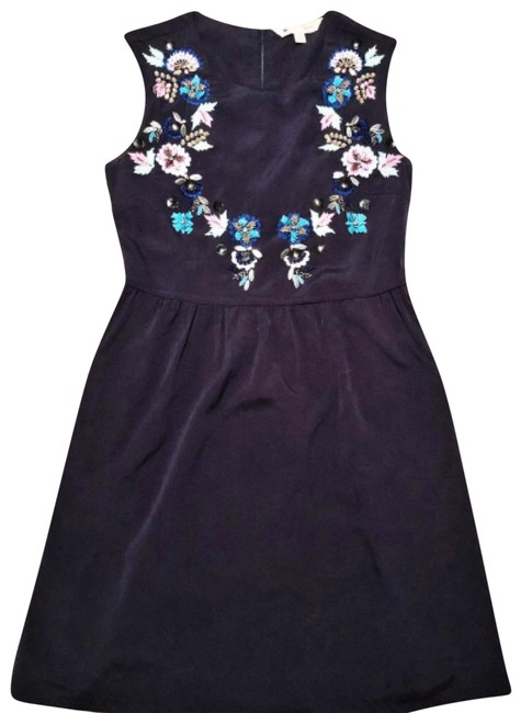 Preload https://img-static.tradesy.com/item/22470836/yumi-navy-blue-with-flower-embellishments-short-casual-dress-size-4-s-0-1-650-650.jpg
