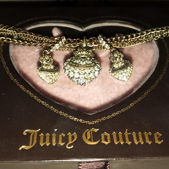 Juicy Couture juicy couture heart pendant necklace and heart earring