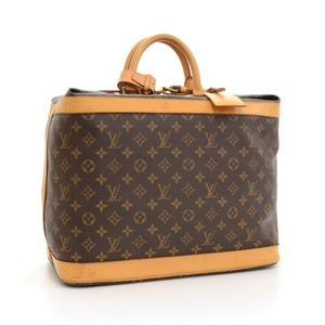 Louis Vuitton Soft Side Luggage Monogram Duffle Keepall Brown Travel Bag