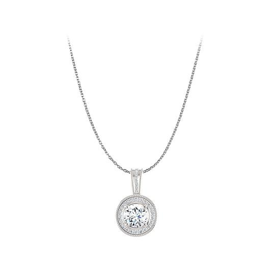 Preload https://img-static.tradesy.com/item/22470860/white-silver-round-cubic-zirconia-halo-pendant-925-sterling-necklace-0-0-540-540.jpg
