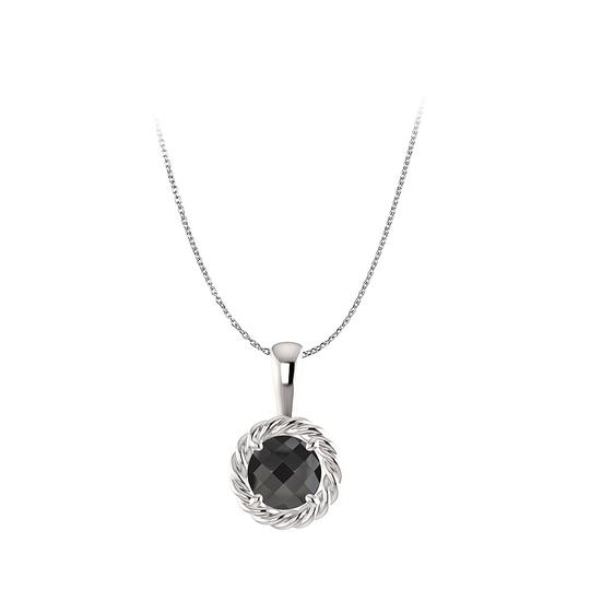 Preload https://item4.tradesy.com/images/black-silver-catch-mystery-with-onyx-round-pendant-in-necklace-22470868-0-0.jpg?width=440&height=440