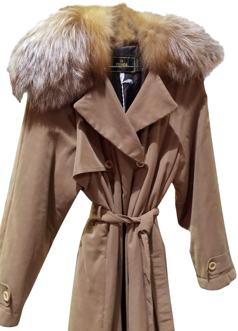 Preload https://item2.tradesy.com/images/fendi-brown-with-fox-collar-size-8-m-22470931-0-1.jpg?width=400&height=650