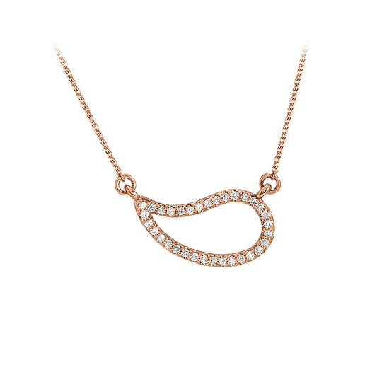 Marco B Cubic Zirconia Geometric Necklace 14K Rose Gold Vermeil