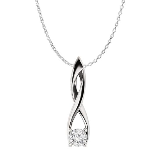 Preload https://item5.tradesy.com/images/white-silver-cz-solitaire-freeform-fashion-pendant-in-925-necklace-22471044-0-0.jpg?width=440&height=440