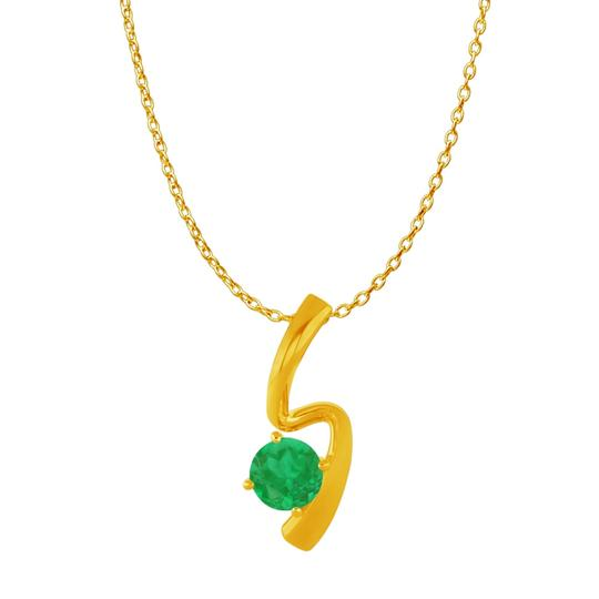 Preload https://img-static.tradesy.com/item/22471149/green-yellow-round-emerald-freeform-pendant-gold-vermeil-necklace-0-0-540-540.jpg