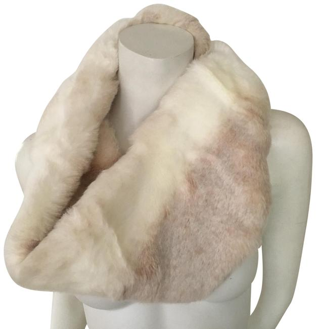 Item - Ivory and Cream Blonde Mink Faux Fur Eternity Scarf/Wrap