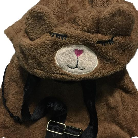 Preload https://img-static.tradesy.com/item/22471256/betsey-johnson-hoodie-tablet-brown-fuzzy-bear-cotton-blend-backpack-0-1-540-540.jpg