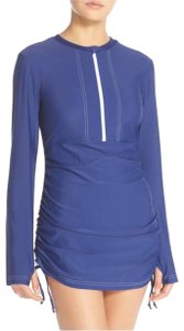 Mott 50 Sonja Long Sleeve Half Zip Convertible Swim dress M Cover up