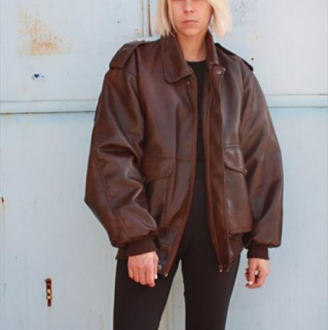 Unisex Leather Mink Bomber Large Jacket Fur Coat