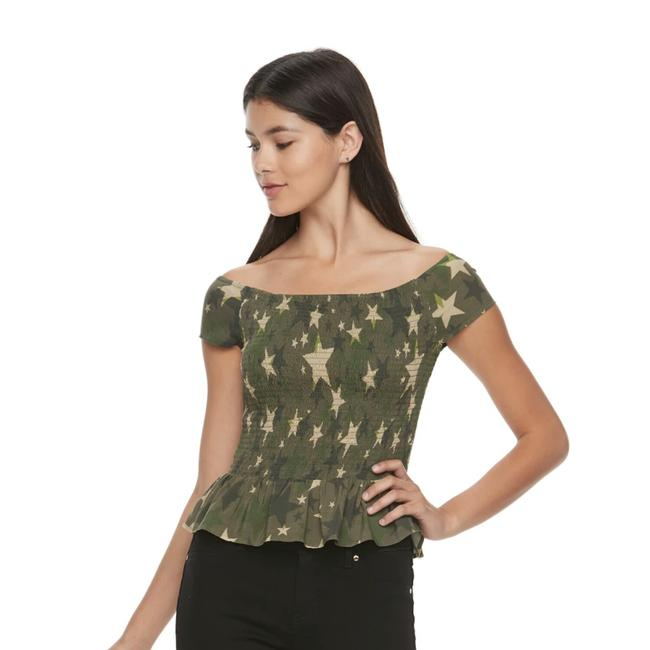 Candie's Top Army green tan