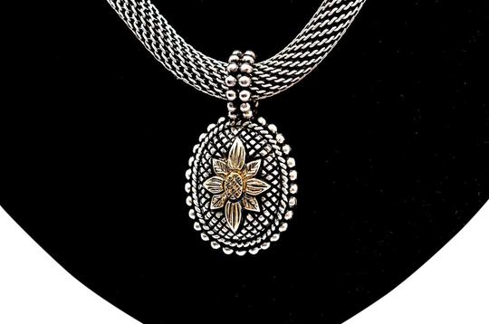 Preload https://img-static.tradesy.com/item/22471670/stephen-dweck-silver-and-18k-sterling-intagalo-gold-flower-with-necklace-0-1-540-540.jpg