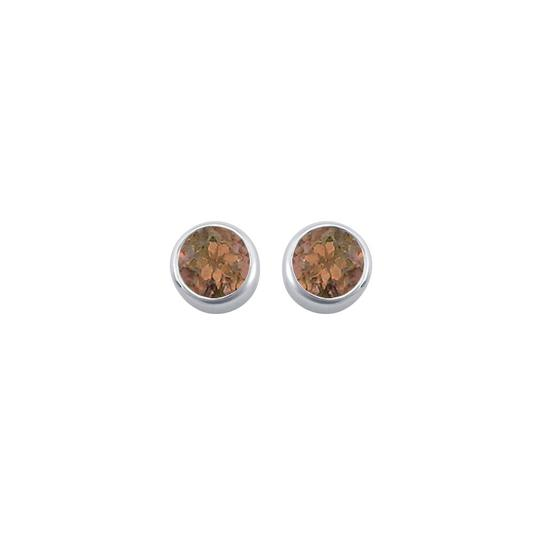 Preload https://img-static.tradesy.com/item/22471703/brown-silver-smoky-topaz-bezel-set-stud-925-sterling-200-ct-tgw-earrings-0-0-540-540.jpg