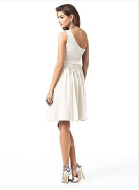 Dessy Length One Shoulder Cffon Dress