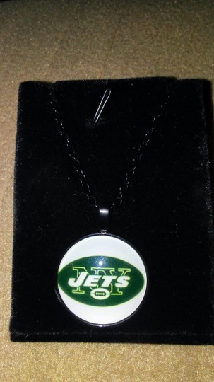 Unknown NFL New York Jets Glass Dome Pendant Necklace