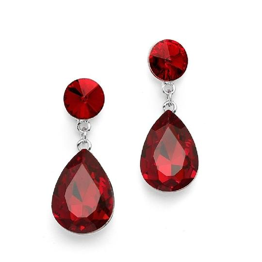 Mariell Ruby Red Color Splash Pear-shaped Drop 4161e-ru Earrings