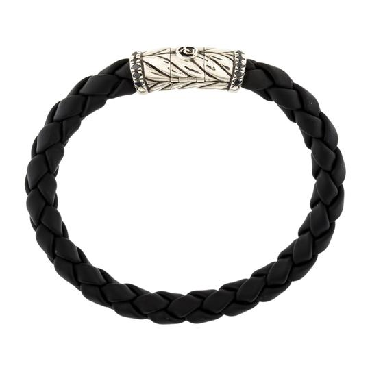 Preload https://img-static.tradesy.com/item/22471904/david-yurman-black-silver-diamonds-chevron-bracelet-0-0-540-540.jpg