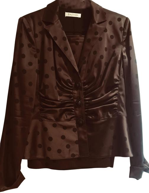 Kay Unger Special occasion suit in a beautiful chocolate color.