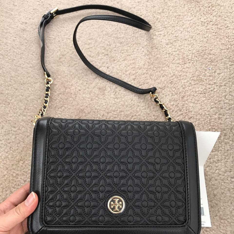 e91e6ed4f22 Tory Burch Bryant Quilted Black Leather Cross Body Bag - Tradesy