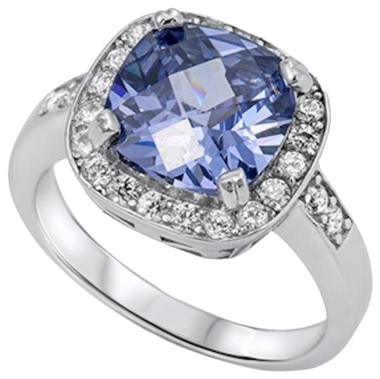 9.2.5 Amazing 4 carat tanzanite and white sapphire Cocktail ring size 7