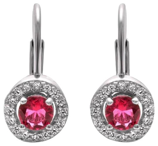 Preload https://item1.tradesy.com/images/925-red-pink-round-ruby-halo-dangle-earrings-22472060-0-1.jpg?width=440&height=440