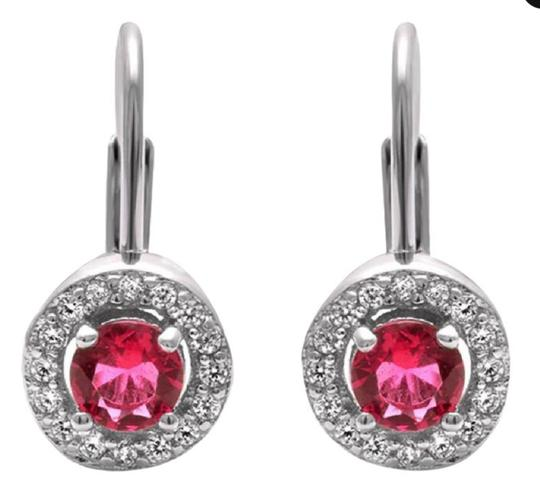 9.2.5 Gorgeous round ruby halo dangle earrings
