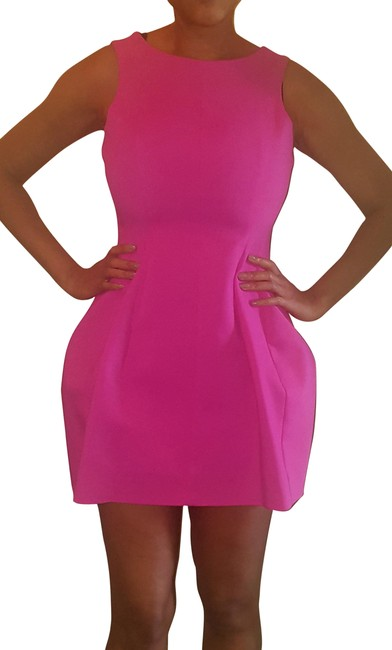 Preload https://item4.tradesy.com/images/zara-hot-pink-woman-short-cocktail-dress-size-4-s-22472103-0-1.jpg?width=400&height=650