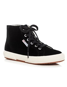 Superga Velvet Black Athletic